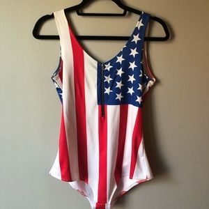 Other - American Flag (USA) Body Suit - Medium